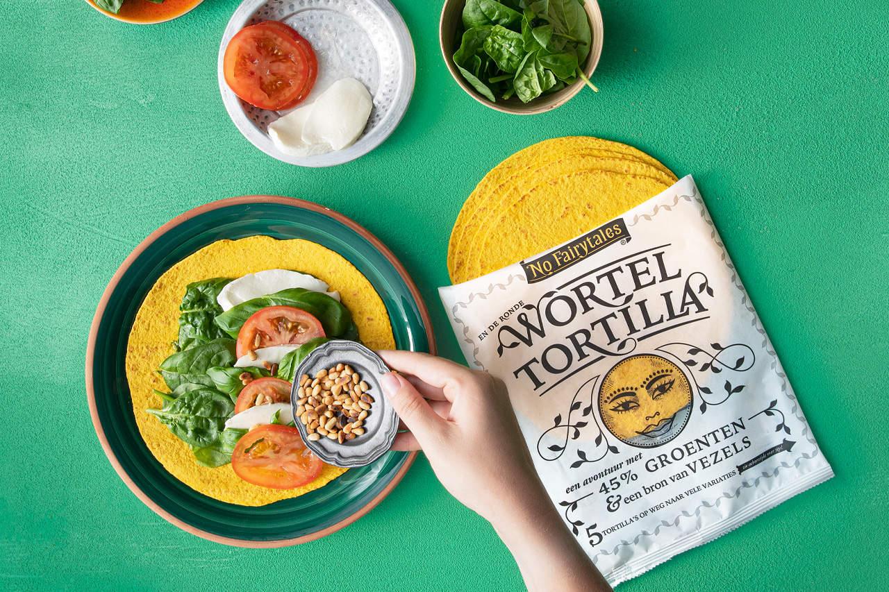 wortel tortilla caprese