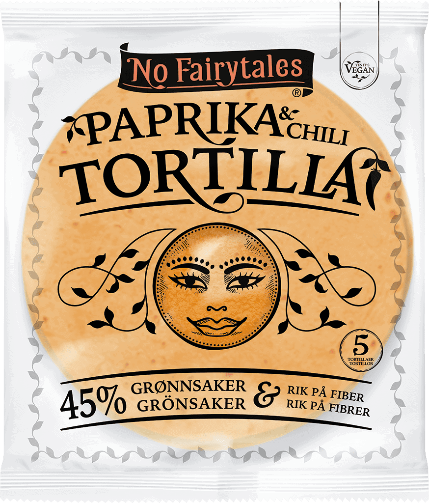No Fairytales paprika-och chilitortilla